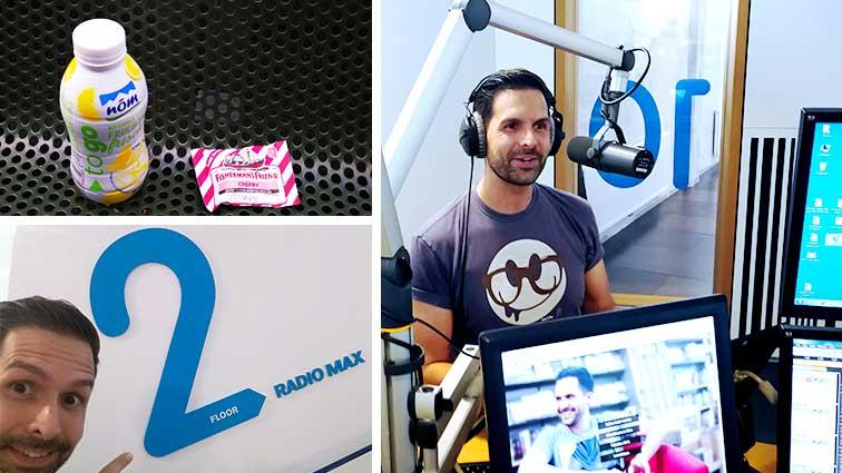 Interviewtermin bei Radio Max